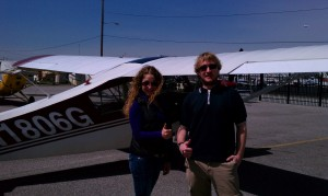 Pierluigi Rolando passes private pilot checkride at AeroDynamic Aviation located at Reid Hillview Airport in San Jose, CA.