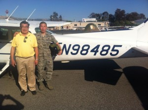 Matthew Main solos Cessna N98485 at AeroDynamic Aviation at Reid Hillview Airport located in San Jose, CA.